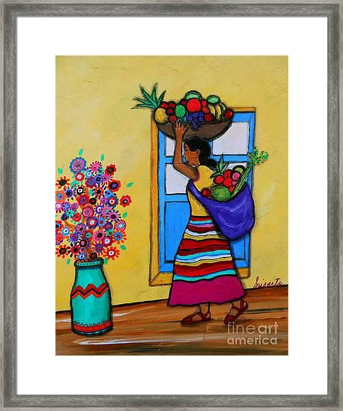 Mexican Street Vendor Framed Print