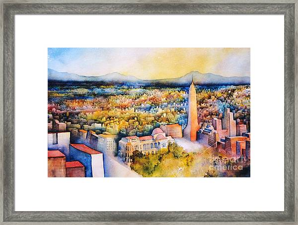 Mexico-city The Endless Town Framed Print