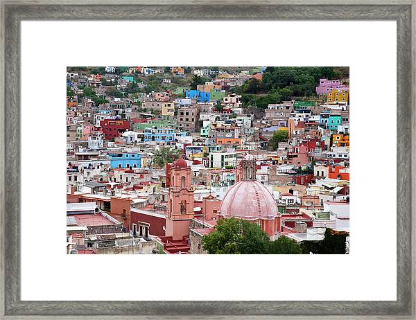 Mexico, Guanajuato, View Of Guanajuato Framed Print