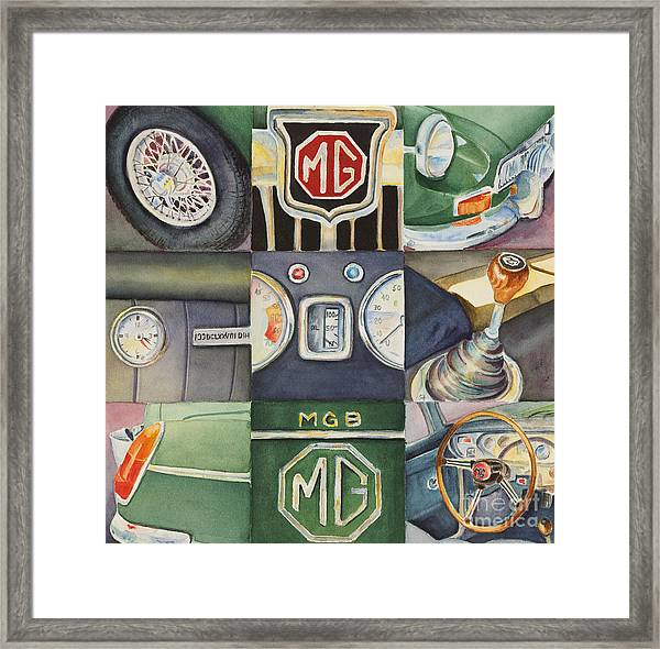 Mgb Car Collage Framed Print