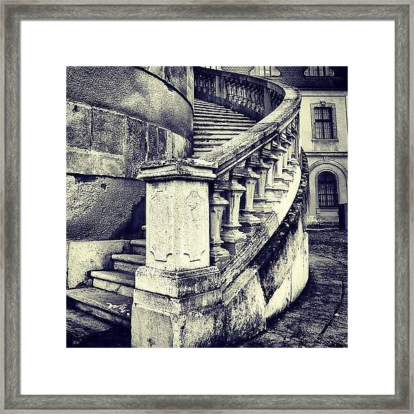 #mgmarts #architecture #castle #steps Framed Print