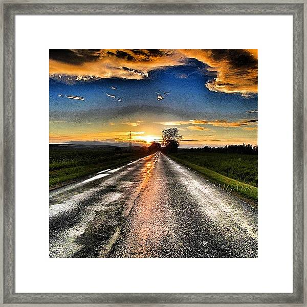 #mgmarts #driving #lonely #instamood Framed Print