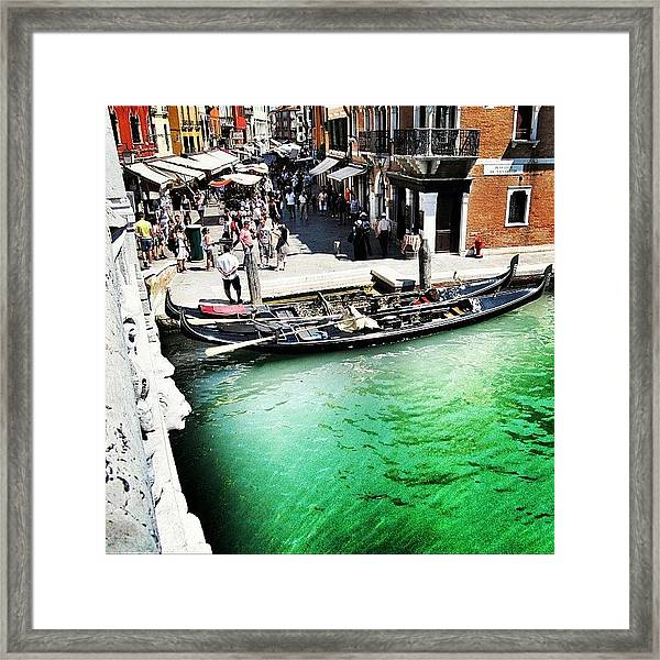 #mgmarts #venice #italy #europe #canal Framed Print