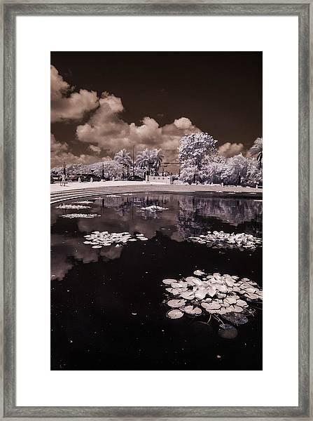 Miami Beach Lake Framed Print