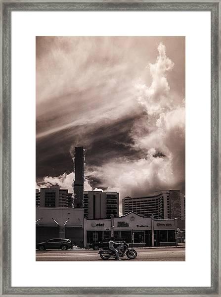 Miami Beach Sky Framed Print