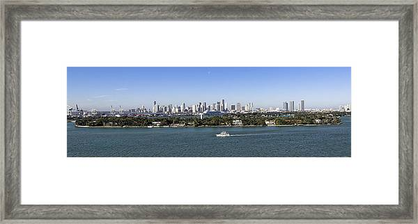 Miami Daytime Panorama Framed Print