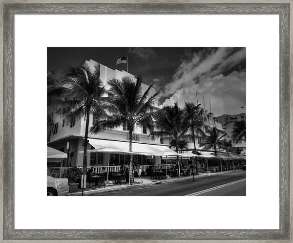 Framed Print featuring the photograph Miami - Deco District 011 by Lance Vaughn