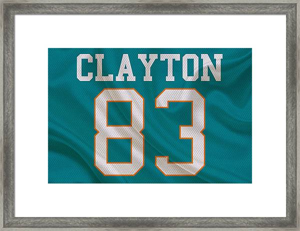 Miami Dolphins Mark Clayton Framed Print