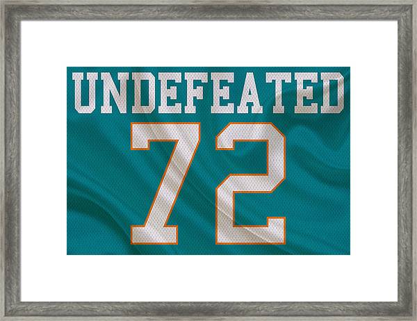 Miami Dolphins Undefeated Season Framed Print