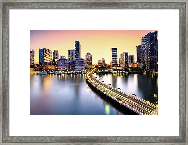 Miami Framed Print by Eddie Lluisma