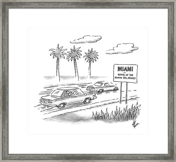 Miami:  Home Of The Miami Relatives Framed Print