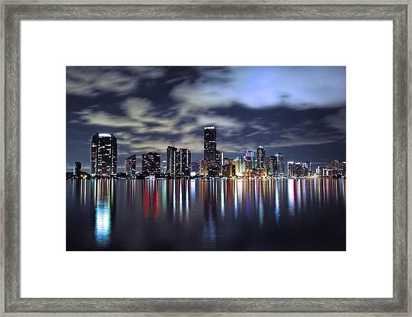 Miami Skyline Framed Print