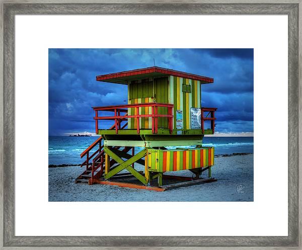 Miami - South Beach Lifeguard Stand 006 Framed Print