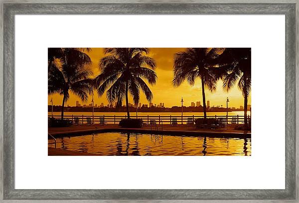 Miami South Beach Romance Framed Print
