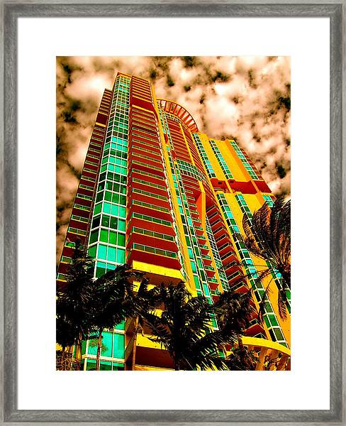 Miami South Pointe II Highrise Framed Print