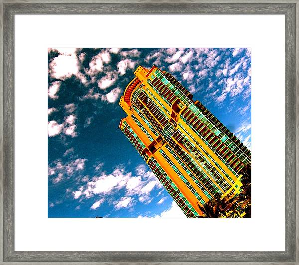 Miami South Pointe Highrise Framed Print