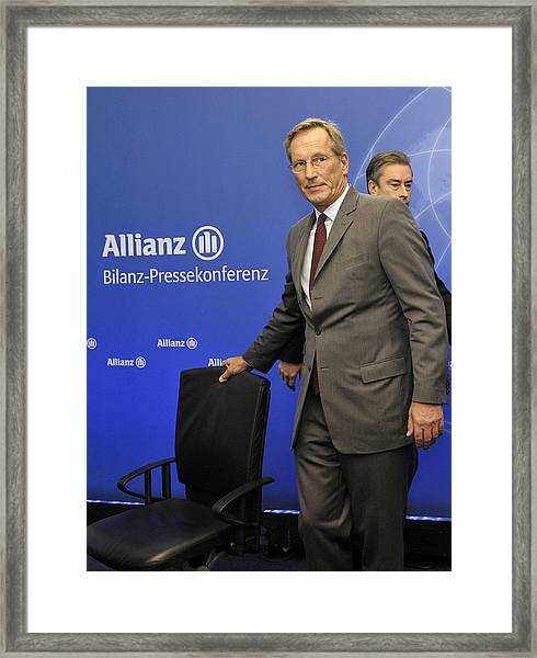 Michael Diekmann, Chief Executive Officer Of The Allianz Se Framed Print by Bloomberg