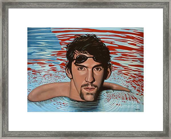 Michael Phelps Framed Print