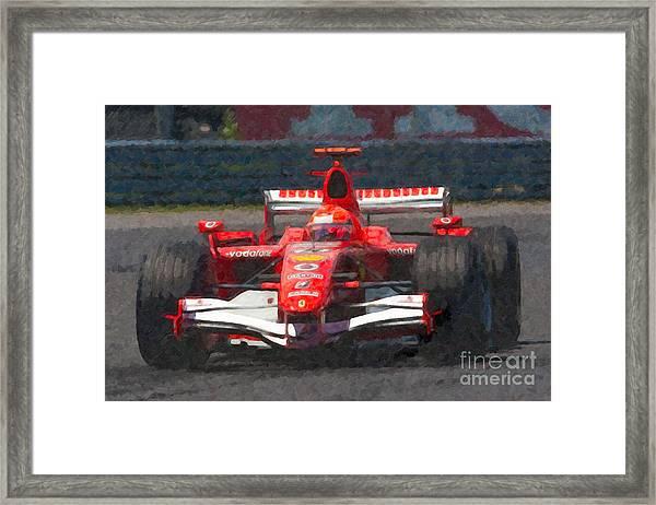 Michael Schumacher Canadian Grand Prix I Framed Print
