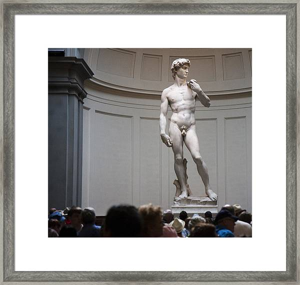 Michelangelo's David Framed Print