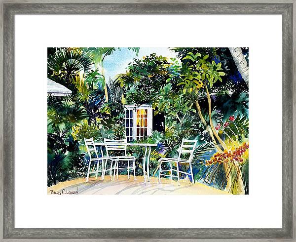 Michelle And Scott's Key West Garden Framed Print