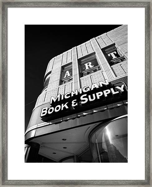 Michigan Book And Supply Framed Print