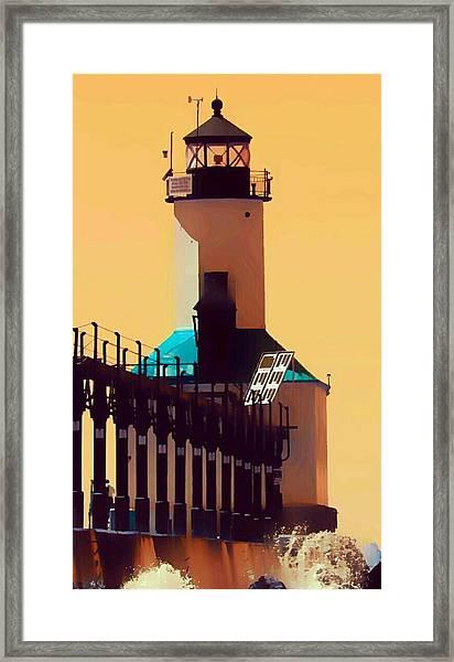 Michigan City Lighthouse Framed Print