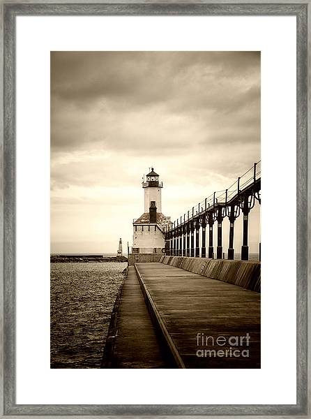 Michigan City Lighthouse Framed Print