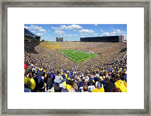 Michigan Stadium - Wolverines Framed Print