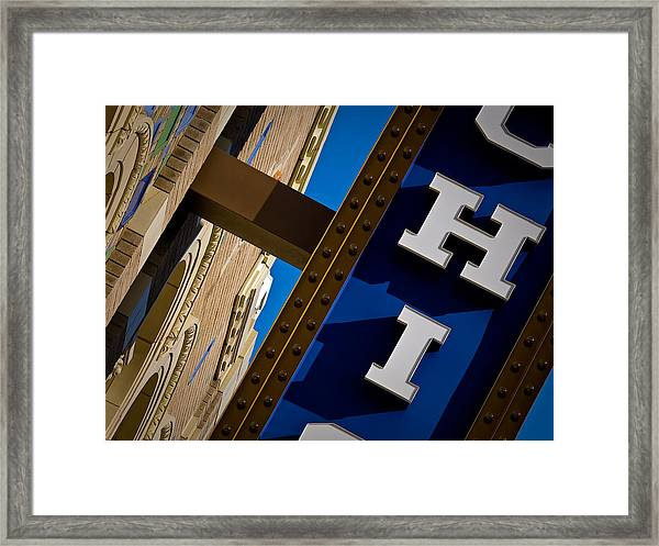 Michigan Theater Marquee Framed Print