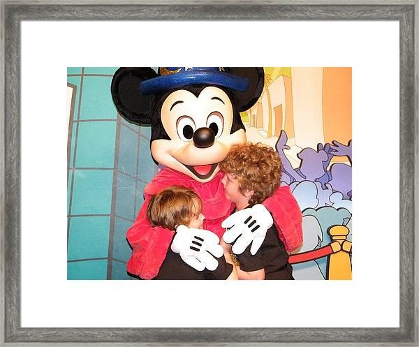 Mickey Love Framed Print