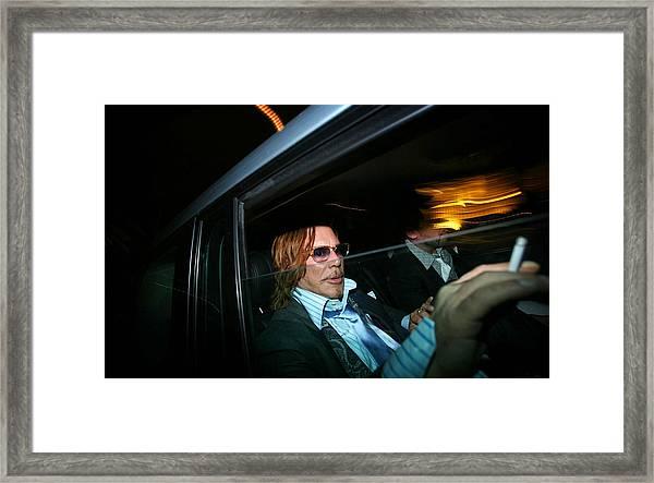 Mickey Rourke  Framed Print