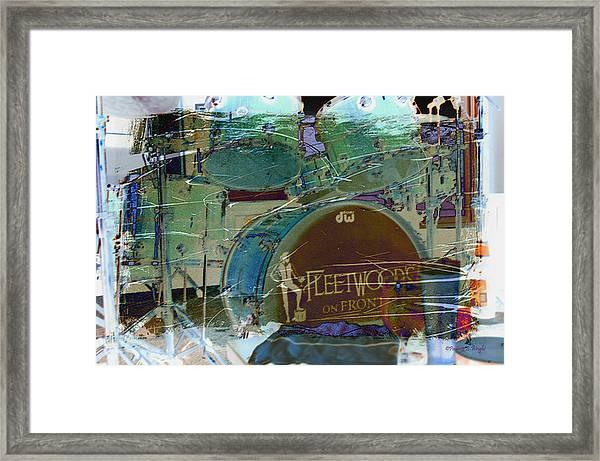 Mick's Drums Framed Print