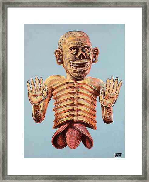 Mictlantecuhtli The Aztec God Of The Dead Framed Print