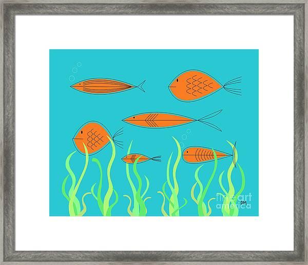 Mid Century Fish 2 Framed Print