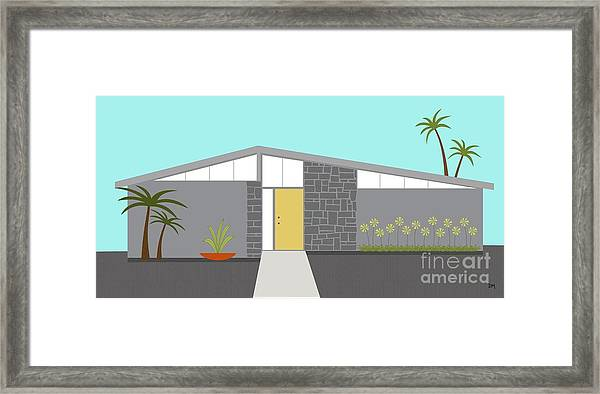 Mid Century Modern House 2 Framed Print