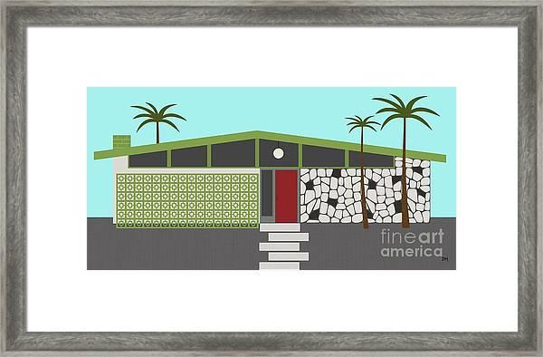 Mid Century Modern House 4 Framed Print