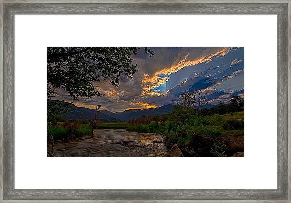 Mid-summer Sunset Framed Print