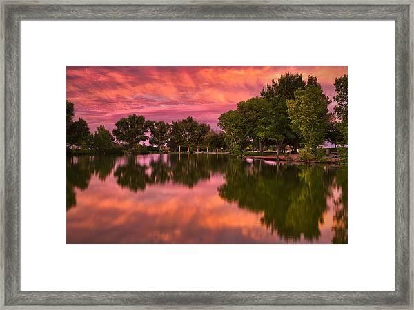 Mid Summers Sunset Framed Print