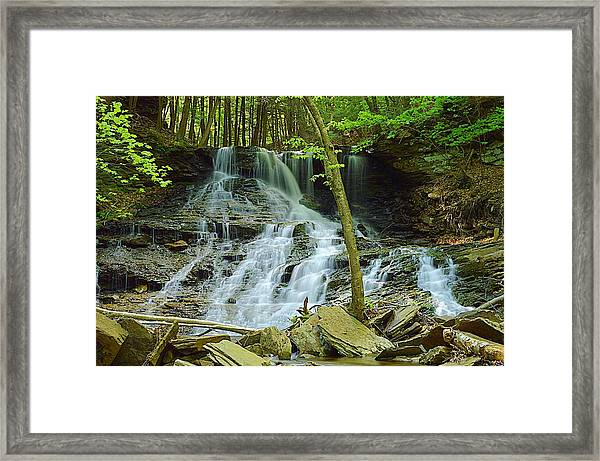 Middle Branch Falls Lower Tier #1 Framed Print