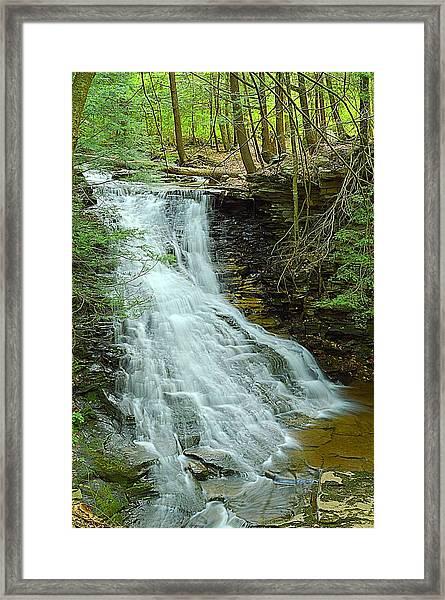 Middle Branch Falls Upper Tier #1 Framed Print