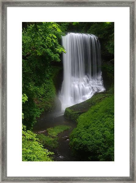 Middle North Falls Framed Print