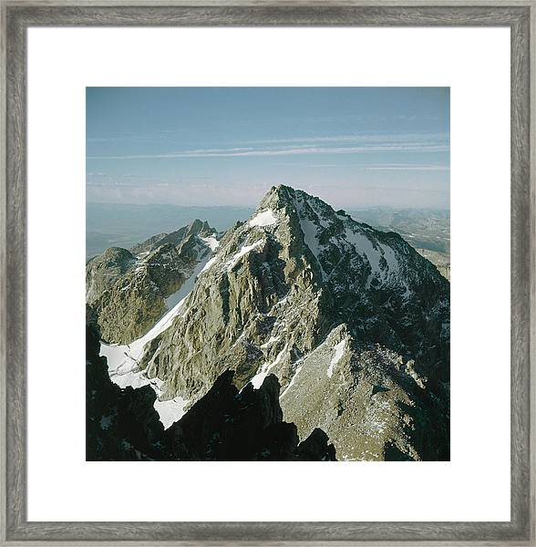 T-209207-middle Teton From Grand Teton Framed Print