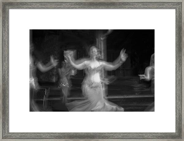 Framed Print featuring the photograph Mideastern Dancing 7 by Catherine Sobredo