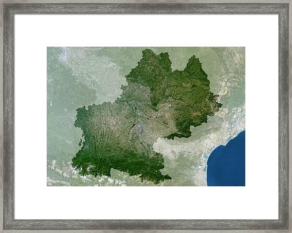 Midi-pyrenees Region Framed Print