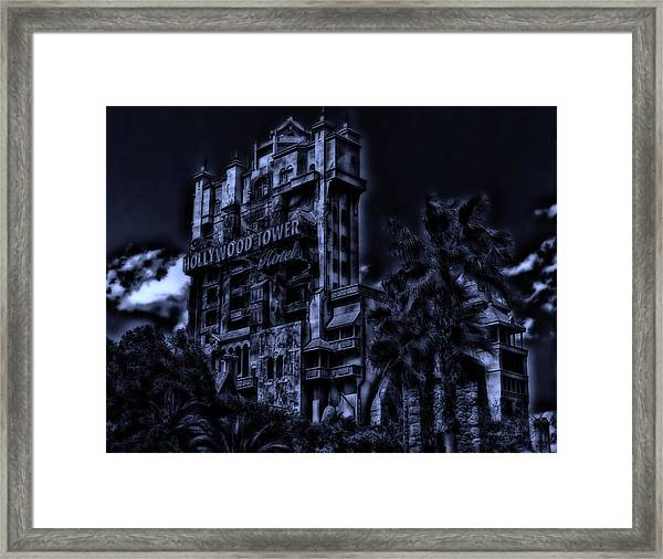 Midnight At The Tower Of Terror Framed Print