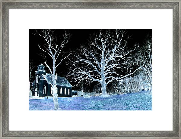 Midnight Country Church Framed Print