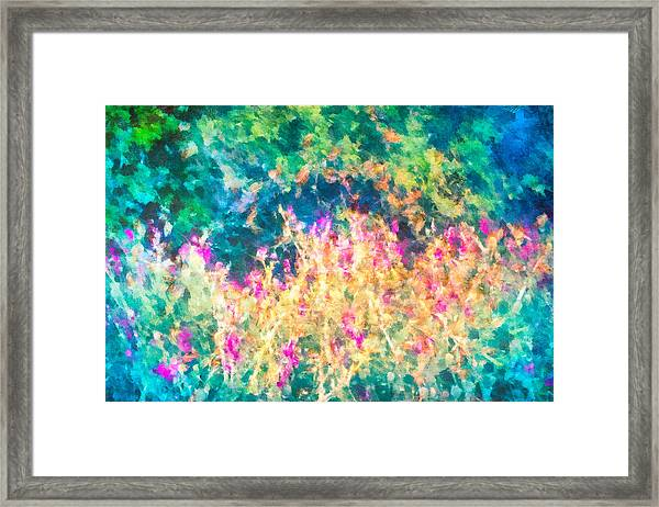 Framed Print featuring the mixed media Midnight In The Garden by Priya Ghose
