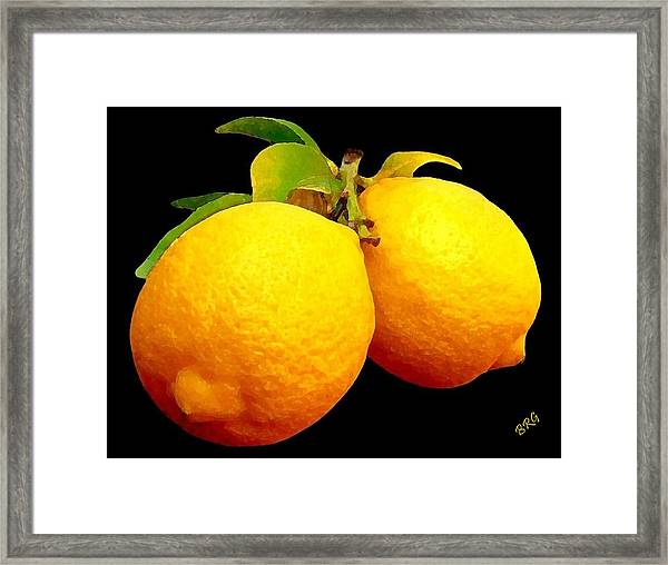 Midnight Lemons Framed Print