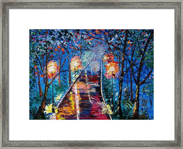 Midnight Lights Framed Print